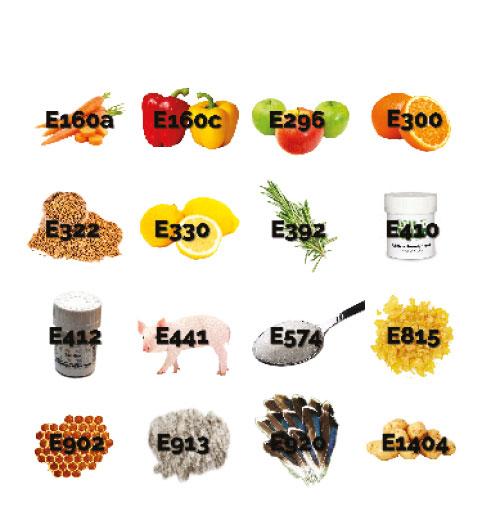 Suikeralternatieven met E-nummers